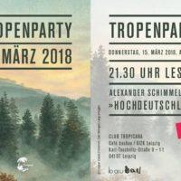 Tropenparty 2018 zur Leipziger Buchmesse