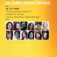 Litprom-Literaturtage 2018 - 30 Jahre LiBeraturpreis
