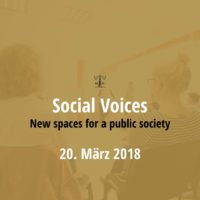 Social Voices 2018 - New spaces for a public society