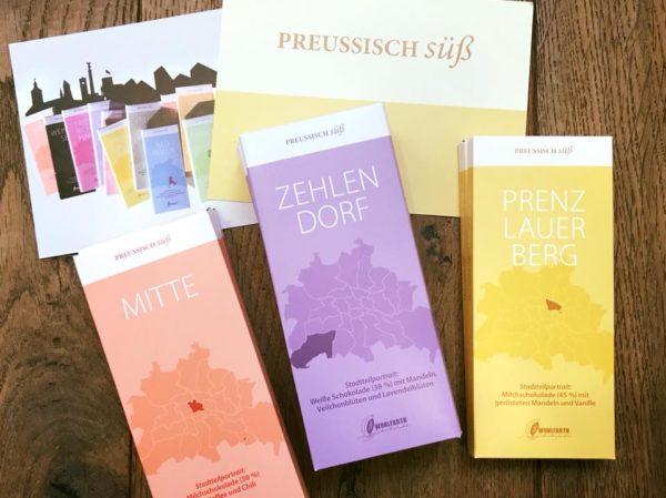 Preußisch süß - Berliner Stadtteilschokolade