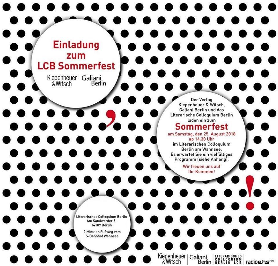 LCB Sommerfest der Verlage Kiepenheuer & Witsch und Galiani Berlin