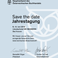 Jahrestagung 2018 des Hauptverbandes des Österreichischen Buchhandels