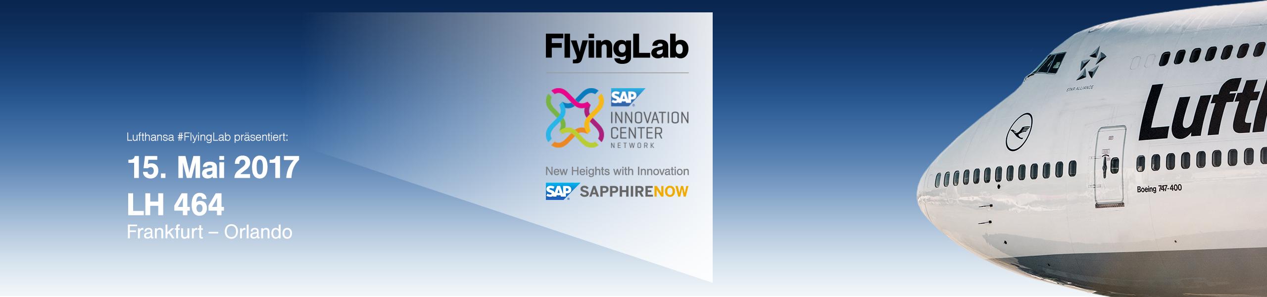 Lufthansa FlyingLab pre-Event zur SAPPHIRE NOW