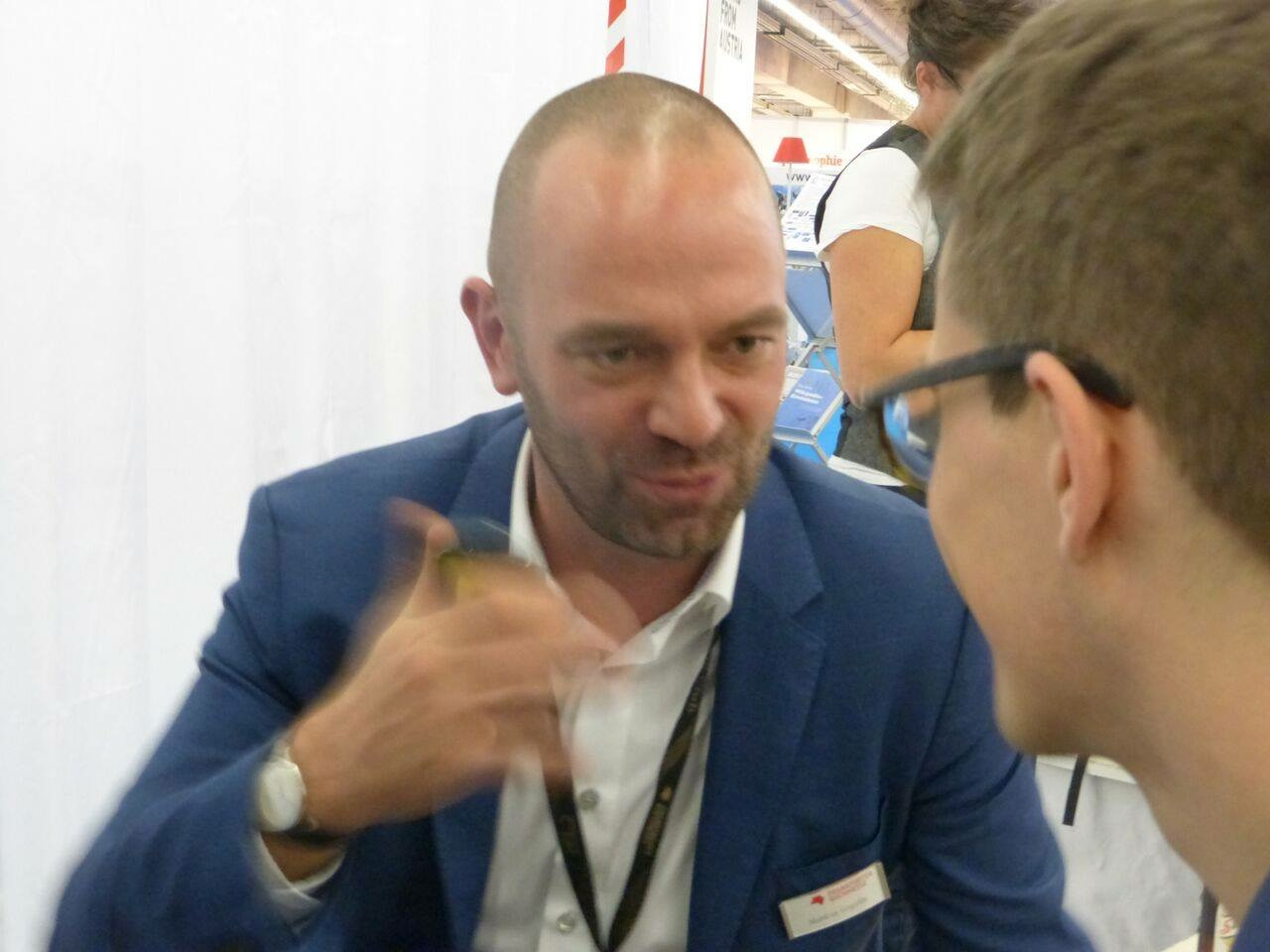 Markus Gogolin mit Leander Wattig im ORBANISM SPACE 2015