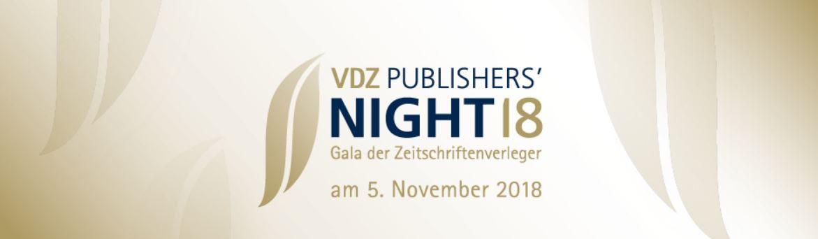 VDZ Publishers' Night - Verleihung der Goldenen Victoria