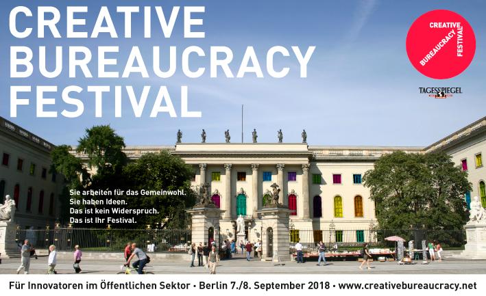 1. Creative Bureaucracy Festival 2018 - Für Innovatoren im Öffentlichen Sektor