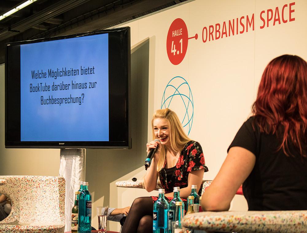 Lea Kaib im ORBANISM SPACE auf der Frankfurter Buchmesse 2018