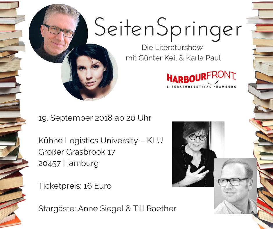 """""""Die Seitenspringer"""" Literaturshow / Harbour Front Hamburg"""