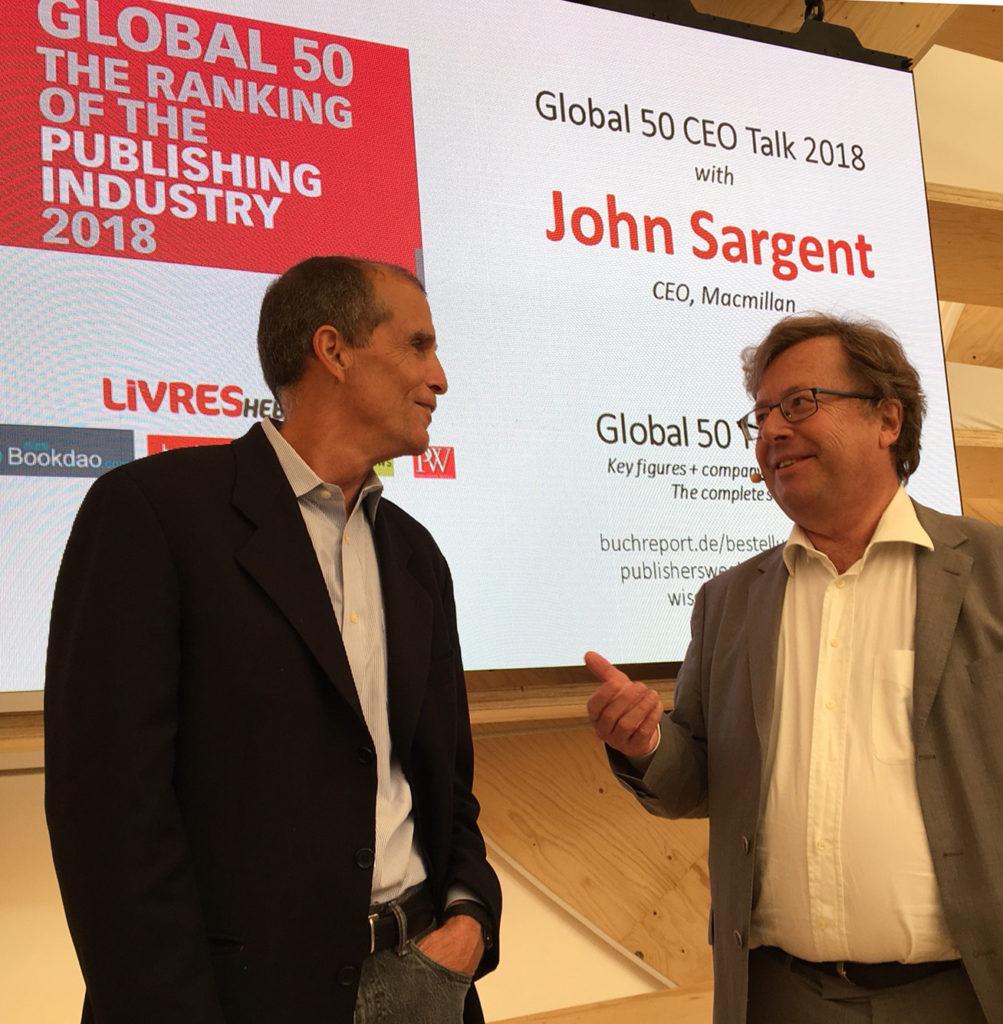 John Sargent und Rüdiger Wischenbart, 2018