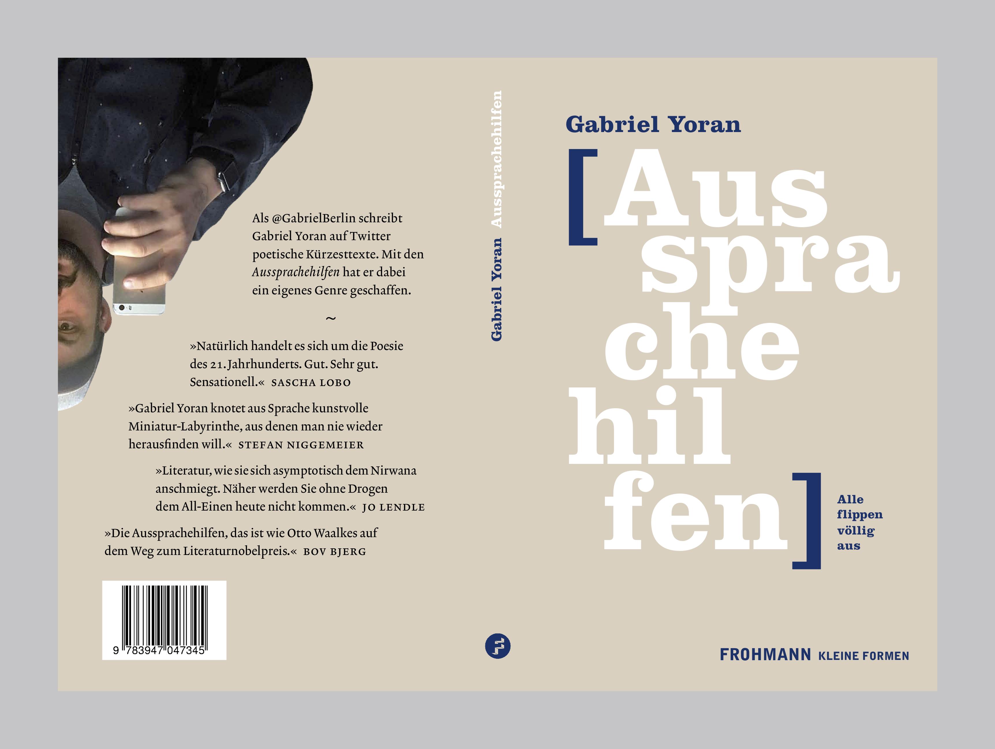 Heute erschienen: ›Aussprachehilfen‹ von Gabriel Yoran