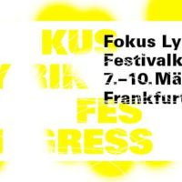 Fokus Lyrik - Festivalkongress 2019