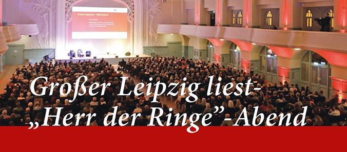 """Großer Leipzig liest- """"Herr der Ringe"""" -Abend 2019"""