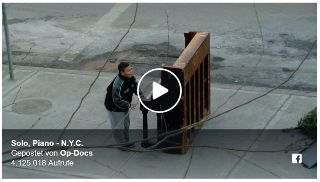 NYT-Kurzdoku: Das Piano auf der Straße
