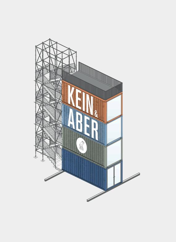 Kein & Aber Verlag: Der Kein & Aber Tower auf der Frankfurter Buchmesse
