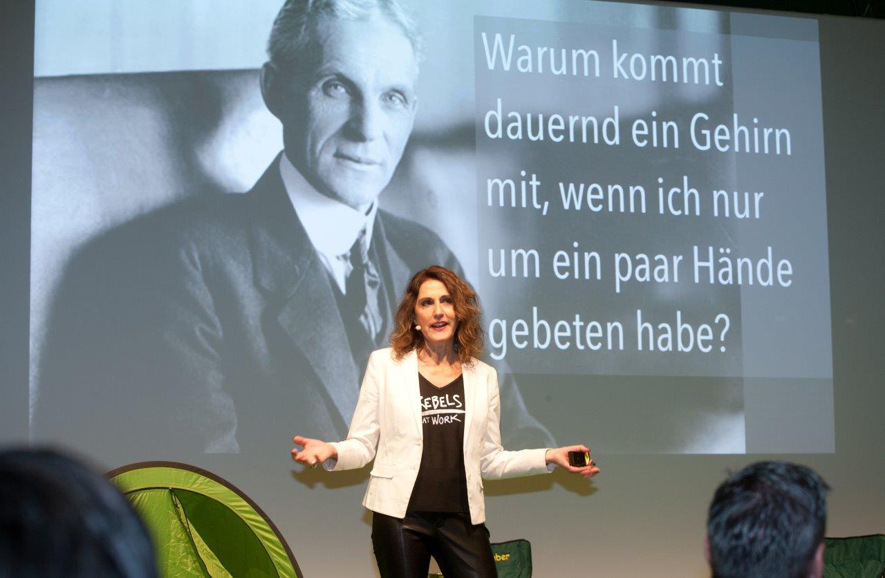 Anja Förster beim Camp Q in Berlin am 10. April 2019; Fotograf: Thomas Kunsch