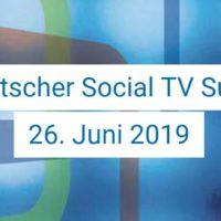 Deutscher Social TV Summit 2019 - Social Media in der Verantwortung