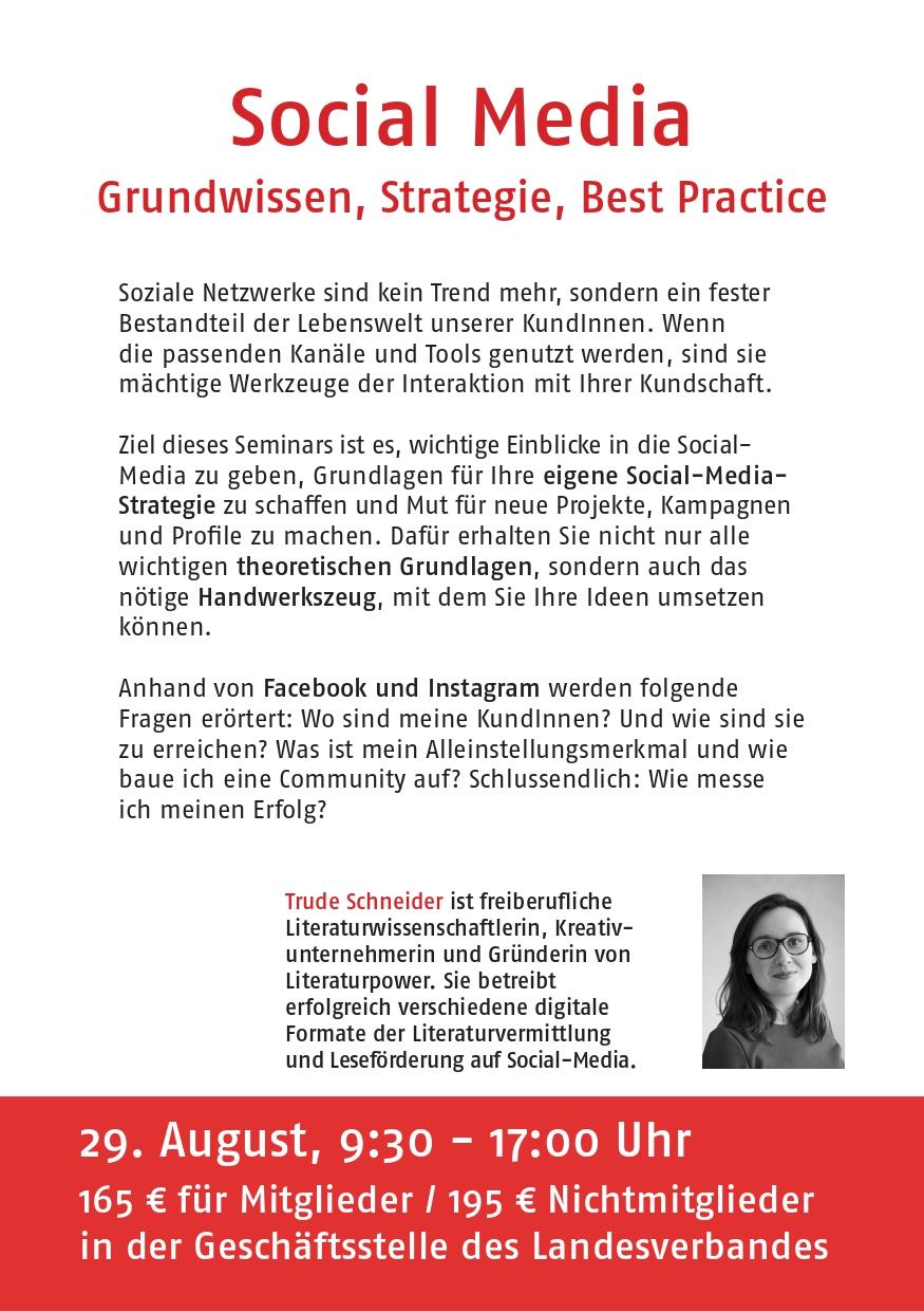 Social Media. Grundwissen, Strategie, Best Practice. Mit Trude Schneider (Literaturpower)