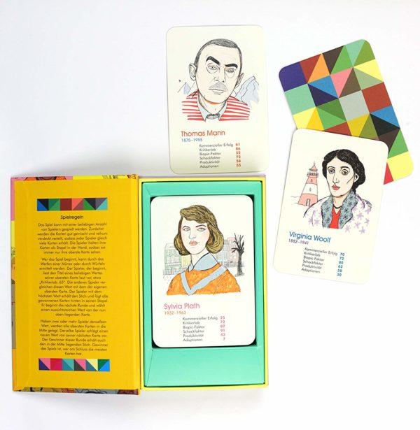 Autoren-Quartett - illustrierte Spielkarten
