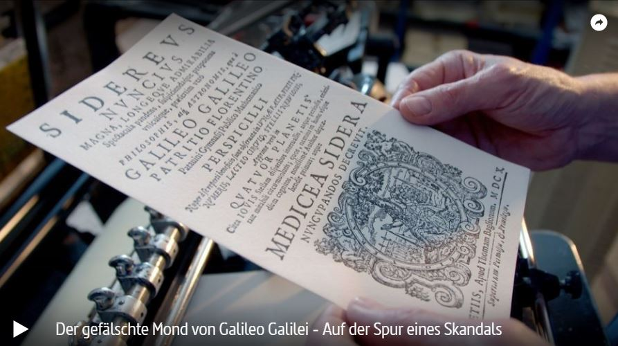 RBB-/ARTE-Doku: Der gefälschte Mond von Galileo Galilei - Auf der Spur eines Skandals