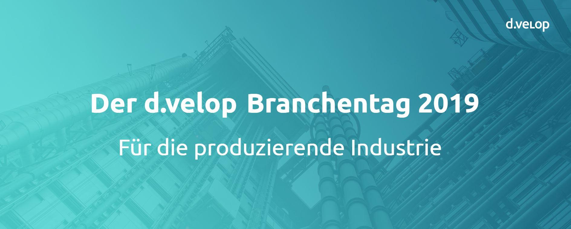 d.velop Branchentag für die produzierende Industrie 2019