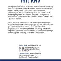 KNV-Workshop: Gründung und Nachfolge im Buchhandel