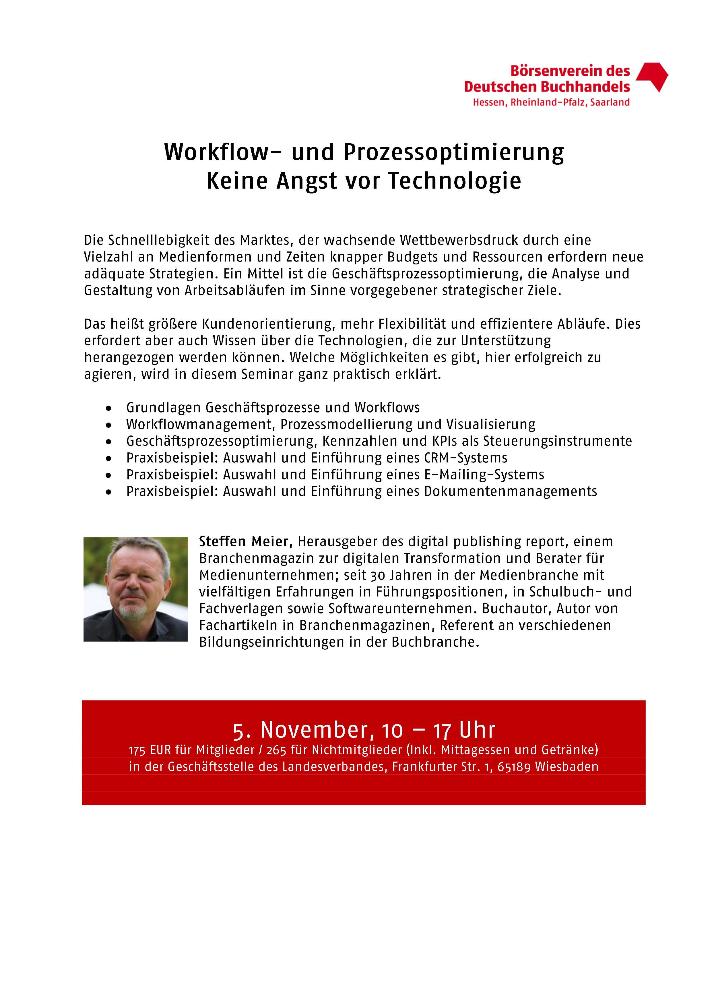 Workflow- und Prozessoptimierung: Keine Angst vor Technologie