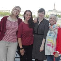 Wir sind Sonja Hoge, Trudy Stange-Motzkau, Nadine Wedel und Martha Wilhelm