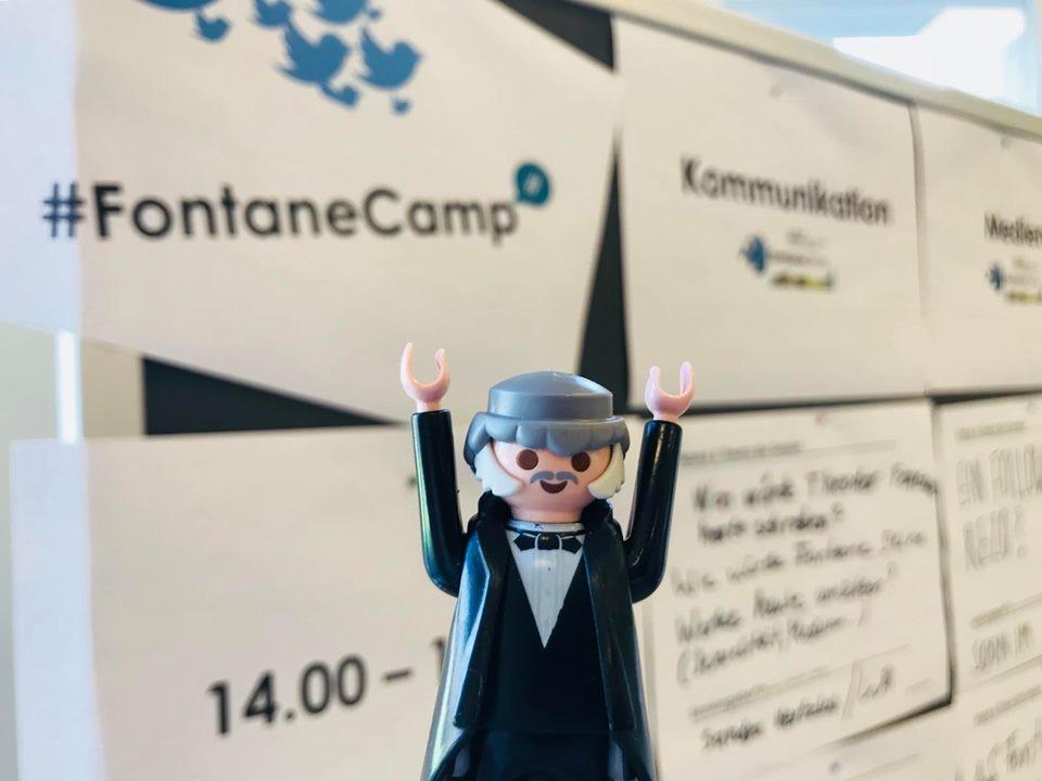 Premiere fürs #FontaneCamp in Potsdam