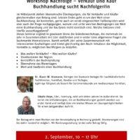 Workshop Nachfolge – Verkauf und Kauf. Buchhandlung sucht Nachfolger/in