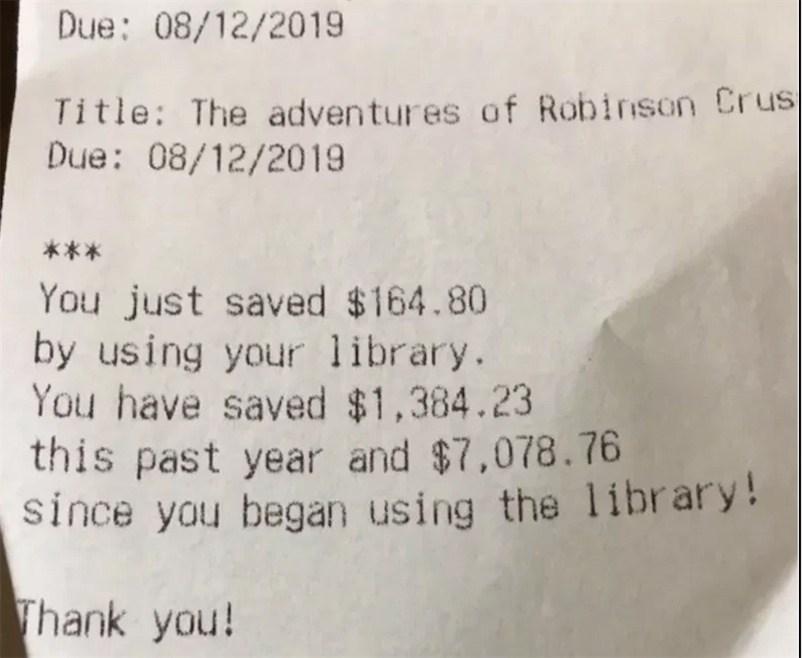 Die Bibliothek in Wichita zeigt jeder Nutzer*in, wie viel Geld sie gespart hat