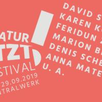 Literatur JETZT! 2019 - Dresdner Festival zeitgenössischer Literatur