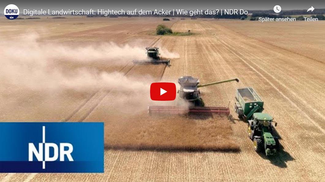 NDR-Doku: Digitale Landwirtschaft - Hightech auf dem Acker