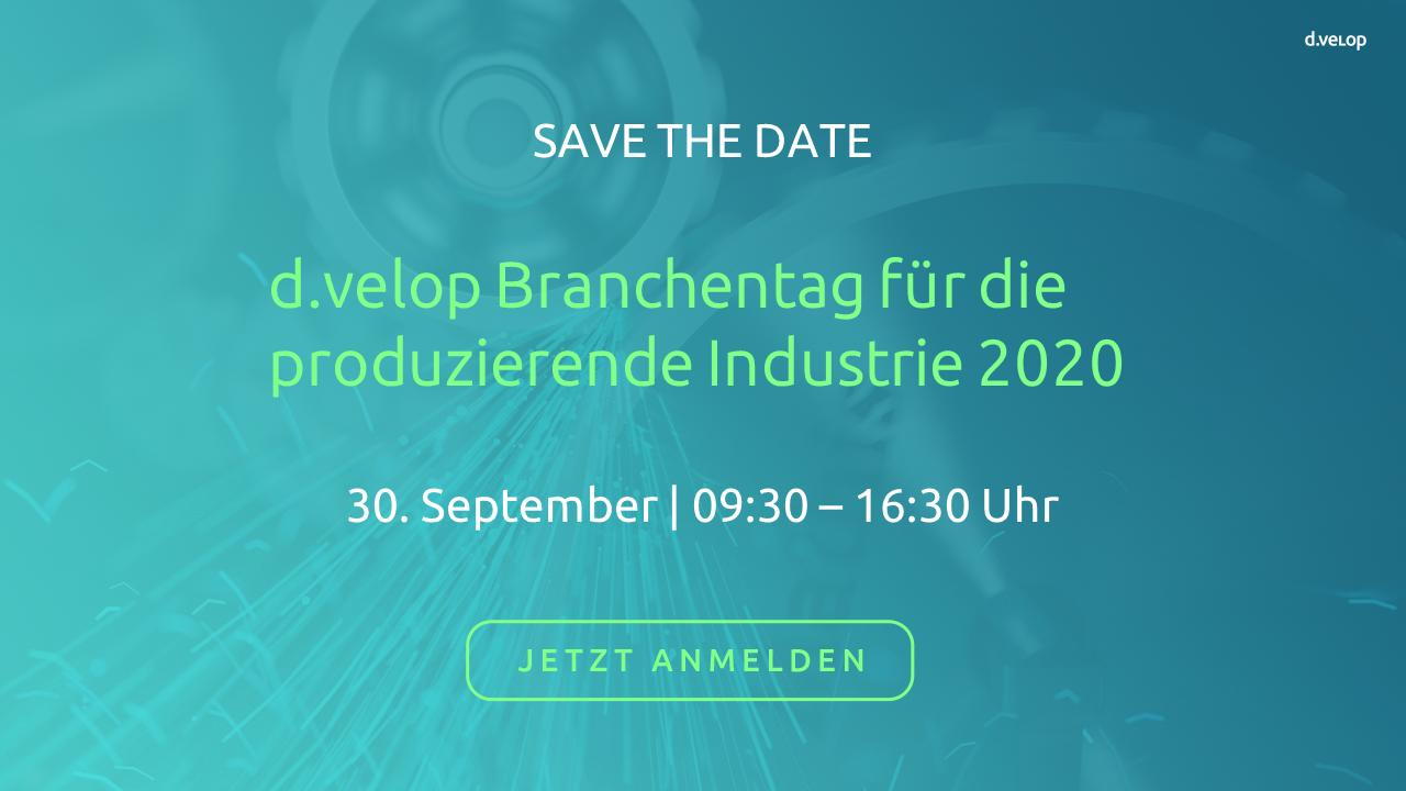 d.velop Branchentag für die produzierende Industrie 2020