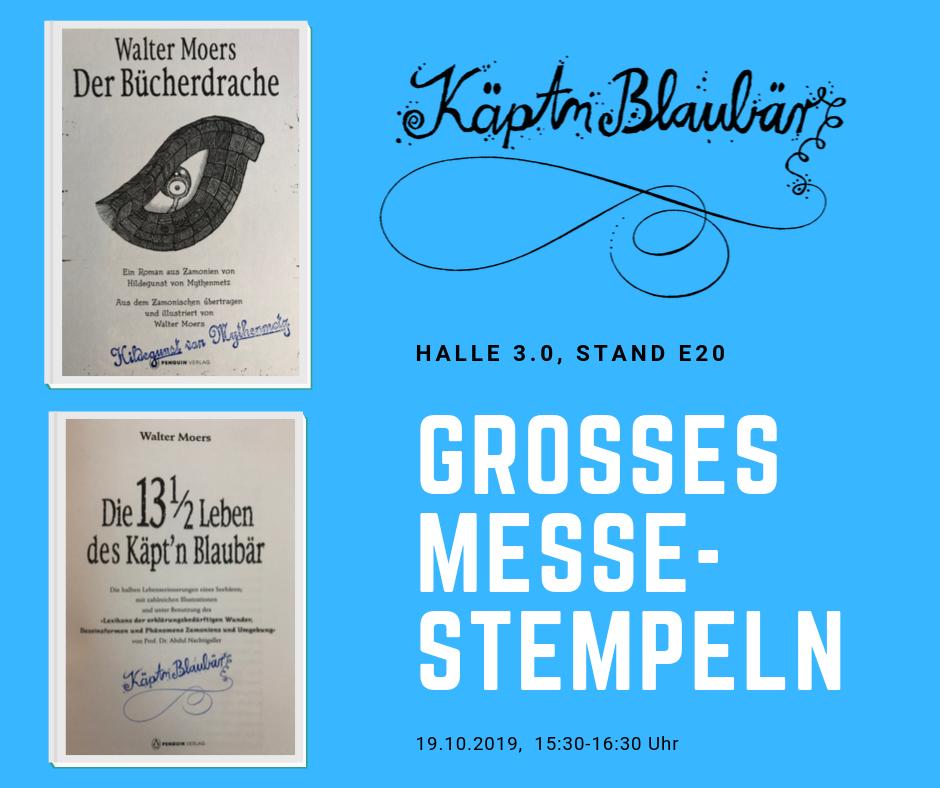 Große Stempelaktion: Signier-Stempel von Käpt'n Blaubär und Hildegunst von Mythenmetz