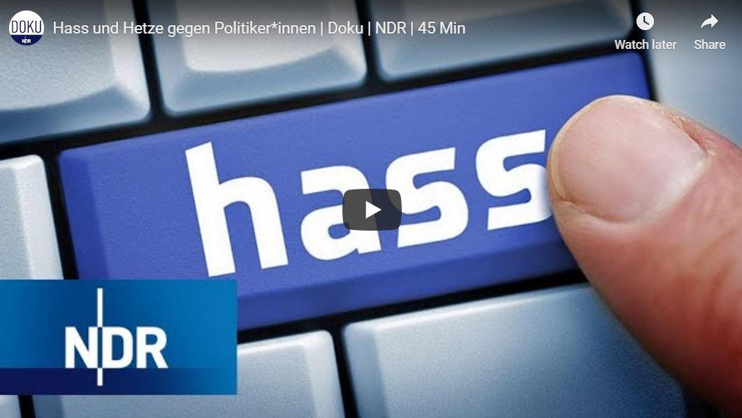 NDR-Doku: Hass und Hetze gegen Politiker*innen