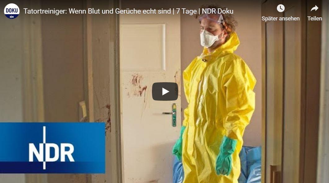 NDR-Doku, 7 Tage: Tatortreiniger - Wenn Blut und Gerüche echt sind