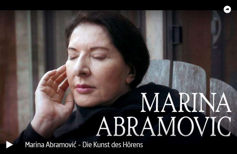 ARTE-/ZDF-Doku: Marina Abramović - Die Kunst des Hörens