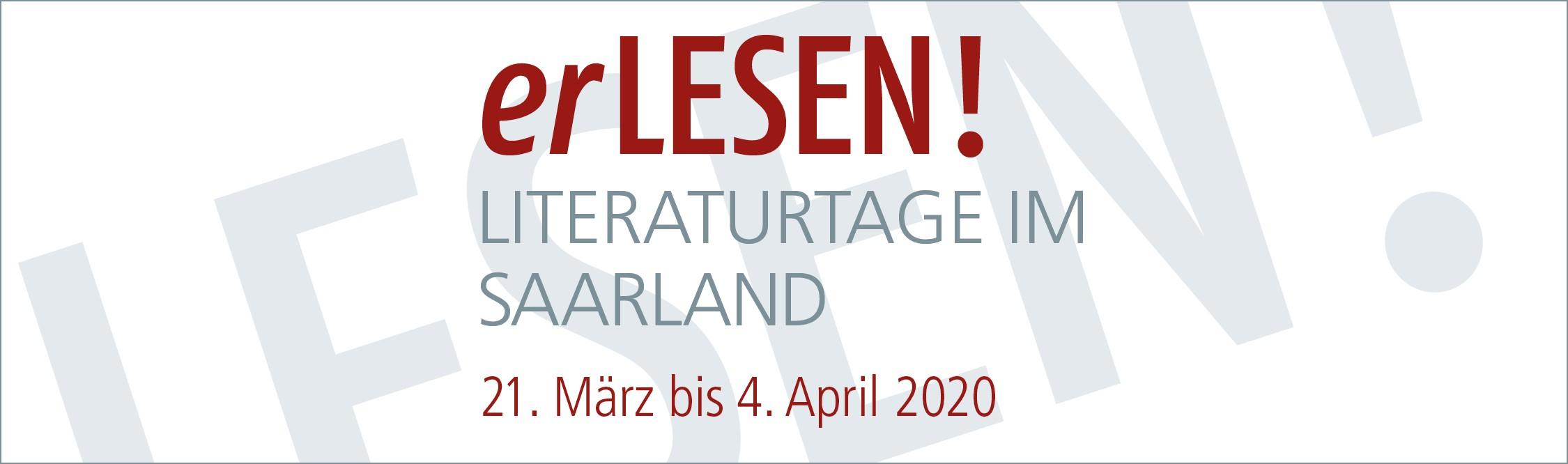 erLesen 2020 - Literaturtage im Saarland