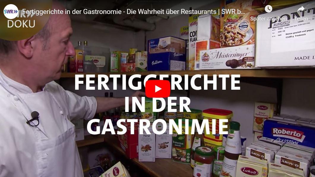 SWR-Doku: Fertiggerichte in der Gastronomie - Die Wahrheit über Restaurants