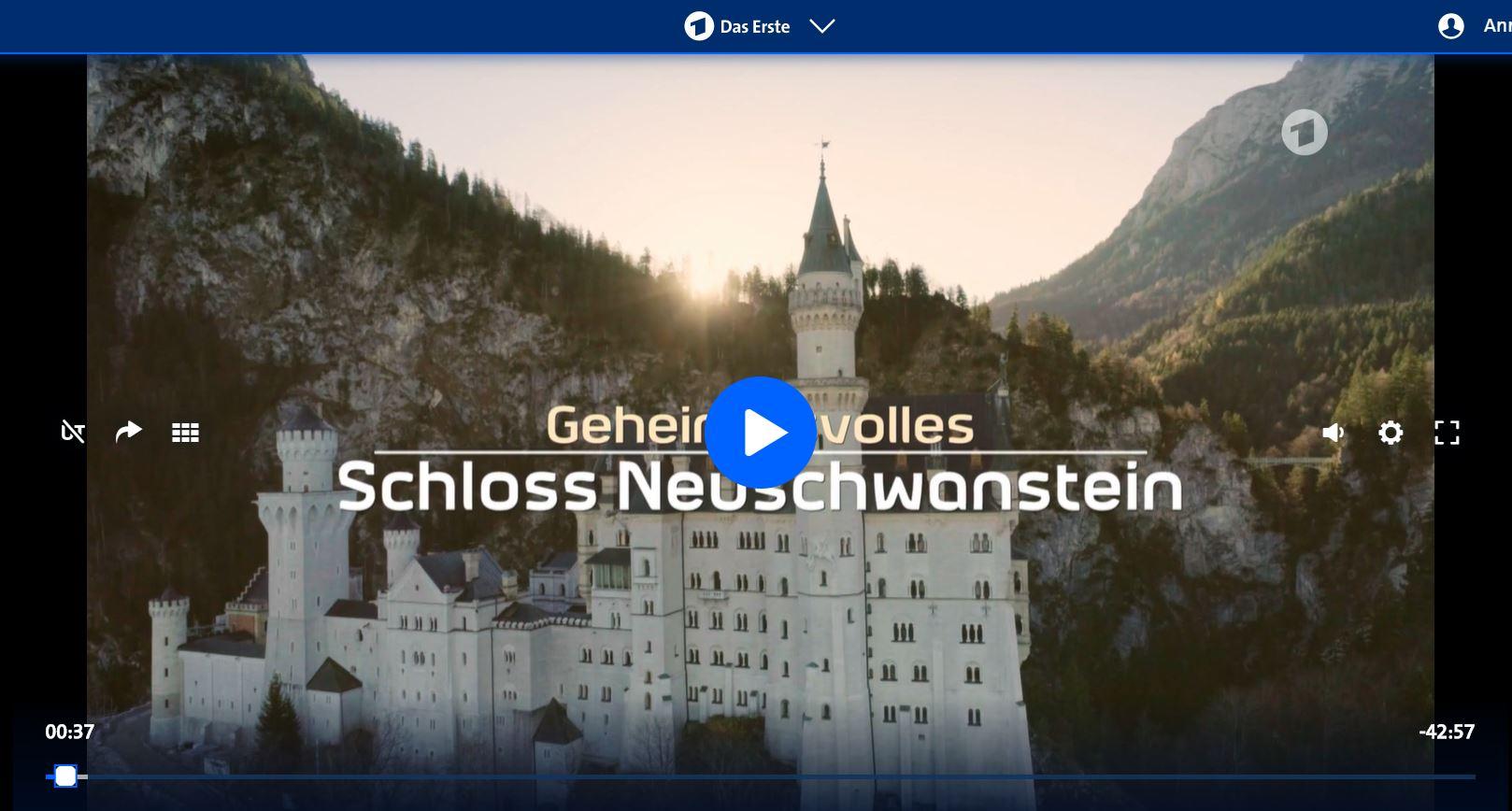 ARD-Doku: Geheimnisvolles Schloss Neuschwanstein