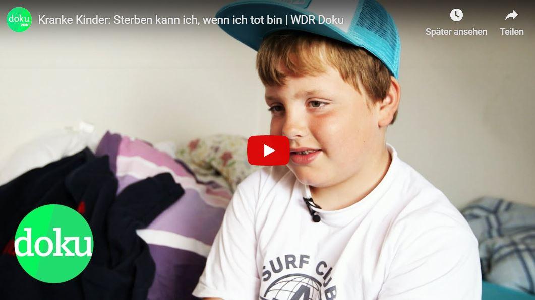 WDR-Doku: Kranke Kinder - Sterben kann ich, wenn ich tot bin