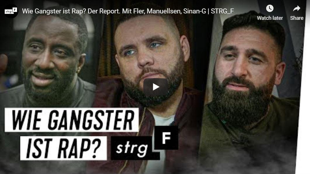 STRG_F-Doku: Wie Gangster ist Rap? Der Report. Mit Fler, Manuellsen, Sinan-G