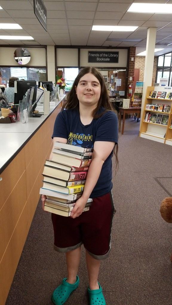 Gwynneth at a library