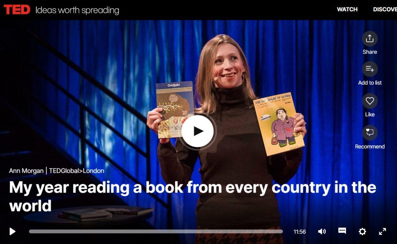 Ann Morgan bei TED: Was man lernt, wenn man ein Jahr lang Bücher aus jedem Land der Erde liest