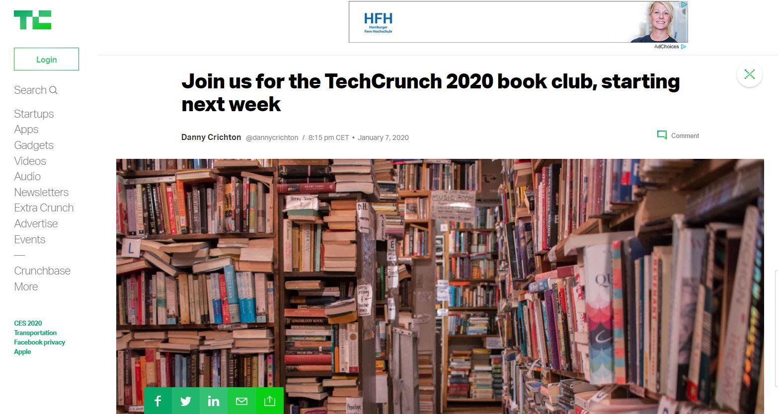 Sogar Tech-Blogs starten Buch-Leseclubs — weil es Sinn ergibt