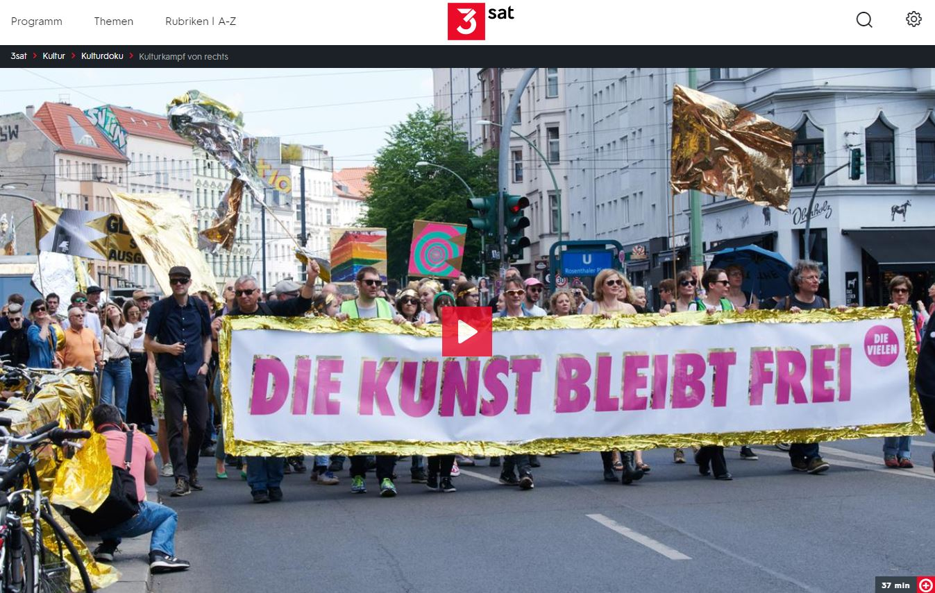 3sat-/ZDF-Doku: Kulturkampf von rechts - Ist die Freiheit der Kunst in Gefahr?