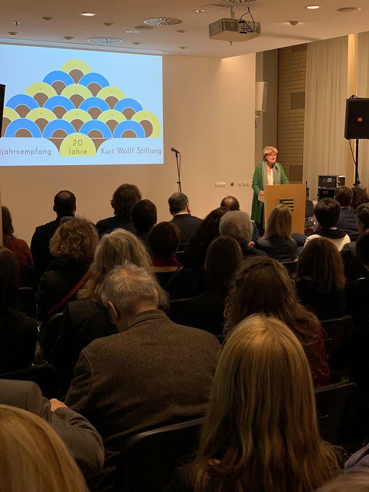 20 Jahre Kurt Wolff Stiftung - Neujahrsempfang 2020