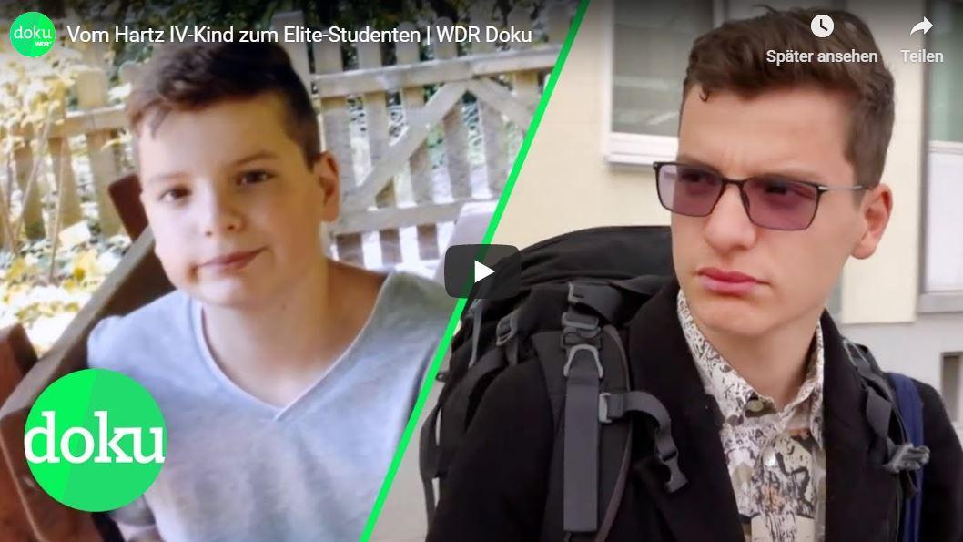 WDR-Doku: Vom Hartz IV-Kind zum Elite-Studenten