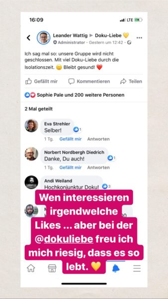 Instagram-Stories von Leander Wattig 2020