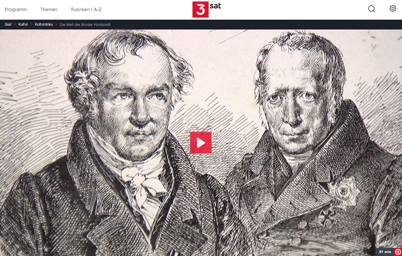 3sat-Doku: Die Welt der Brüder Humboldt